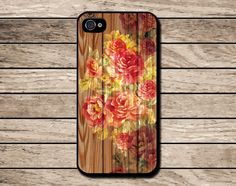 Wood flower iPhone 5C caseVintage Floral iPhone by Mycovercase