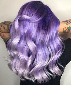 Violet Hair Colors, Purple Wig, Lilac Hair, Hair Color Purple, Hair Dye Colors, Cool Hair Color, Ombre Hair, Lavender Hair, Light Purple Hair