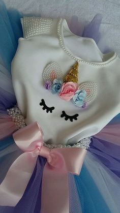 DIY tutu with matching pearl unicorn top Baby Girl Birthday, Unicorn Birthday Parties, Birthday Party Decorations, Birthday Dresses, First Birthday Presents, First Birthdays, Unicorn Outfit, Unicorn Crafts, Diy Party
