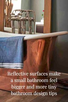 Why you must incorporate reflective surfaces into your tiny bathroom design and other design tips for tiny bathrooms Tiny Bathrooms, Small Bathroom, Maximize Space, Classic Interior, Stuff To Do, Surface, Design Ideas, Feelings, Interior Design