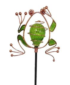 Loving this Frog Solar Light Garden Stake on #zulily! #zulilyfinds