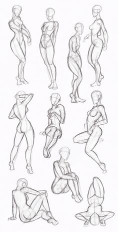 Copy's and Studies: Kate-FoX fem body's by WonderingMind23