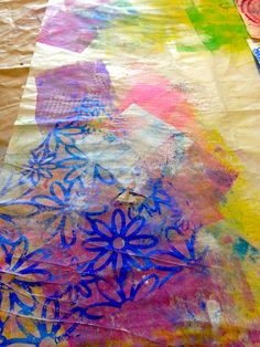 "Artful Musings: This is the SCRAP paper from Susan's ""Day of Play"" with her Gelli® printing plates! Save the scrap papers!"