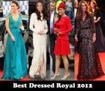 Best Dressed Royal 2012 – Catherine, Duchess of Cambridge
