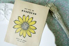 Personalised seed packet wedding favours from Wedding in a Teacup