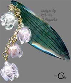 スタンプ&ペイント プラバン見本PJ118 Shrink Plastic in Jewelry 湯口千恵子作