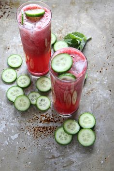 Blackberry Mint Cucumber Tequila Coolers