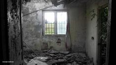 View from inside a former prisoner barrack at Auschwitz 3 Buna Monowitz. Photo by Michael Challoner 2012