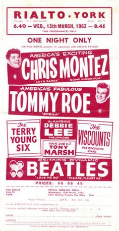 the beatles posters | The Beatles Concert Poster Rialto York | THE BEATLES @ WADHD