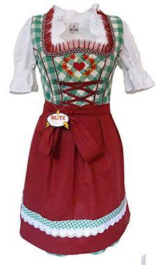 Blitz Dirndl 3 tlg. Trachtenkleid Kleid, Bluse, Schürze, ca. 90cm Größe : 42 Fabe: Grün&Weiß&Bordeaux) Blitz Dirndl http://www.amazon.de/dp/B010TO08TO/ref=cm_sw_r_pi_dp_Qh6Uvb1KD6XVS