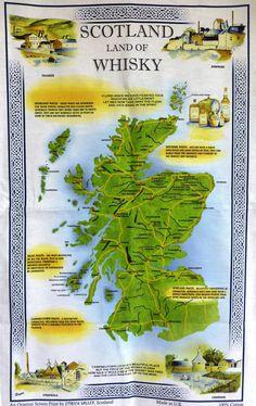 Land of Whisky  - Tea Towel