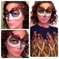 Owl Mask Makeup Tutorial