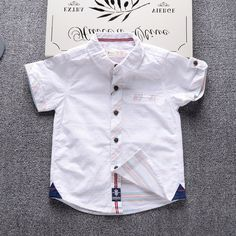 Cheap child shirt, Buy Quality baby boy shirt directly from China boys shirts Suppliers: 2017 Children's shirt new arrival baby boy shirt summer kids short-sleeved Blouse classic shirt tops England style Boys Summer Shirts, Baby Boy Shirts, Kids Shirts, Baby Boy Dress, Baby Boy Outfits, Kids Outfits, Boys Designer Clothes, Baby Frocks Designs, Boys Wear