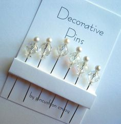 Decorative Sewing Pins  Dress up your by PincushionCrazy on Etsy