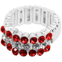 Oklahoma Sooners Crystal Stretch Ring