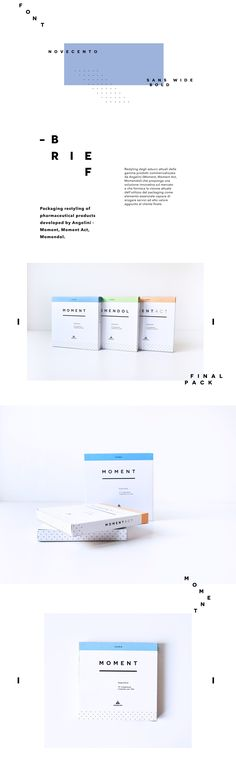 University project where I had to restyling the packaging design of pharmaceutical products developed by Angelini - Moment, Moment Act, Momendol. Medical Packaging, Cosmetic Packaging, Brand Packaging, Packaging Design, Branding Design, Medical Posters, Medical Logo, Medical Coding, Medical Technology