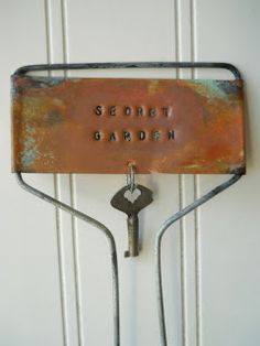 Hope and Joy Home: Stamped copper garden plant markers
