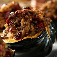 ... YUM! @David Venable QVC's recipe for Baked Stuffed Acorn Squash. More