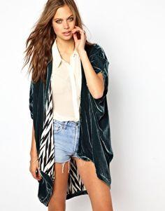Winter Kate Oversized Silk Velvet Kimono Jacket