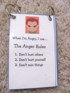 I can think of a few kids that need this! some kids need to read it when they are mad so they can't Handel it