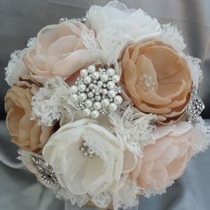 Vintage fabric bouquet - Wedding Inspirations