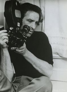 John Cassavetes. The godparent of all indie filmmakers. Wrote some of the strongest, most complex female characters in the history of film. Definitive. Utterly original. I love this shot of him shooting, crammed into a corner.