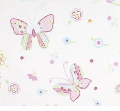 Butterflies design pretty pink duvet and pillowcase bedding sets Hippins for baby gifts nursery furniture and childrens curtains & bedding