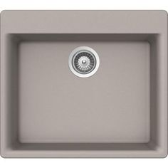 Buy Here: http://thd.co/1RydhLn SCHOCK GALAXY CRISTALITE GAXN100T042 Topmount Granite Composite 23.6 in. Single Bowl Kitchen Sink in Concrete #kitchensink #kitchensinks #kitchen #sinks #schock #granitesink