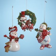 12 Christmas Ornaments by Gordon Companies, Inc. $133.50. Shipping Weight: 3.00 lbs. This product may be prohibited inbound shipment to your destination.. Picture may wrongfully represent. Please read title and description thoroughly.. Please refer to SKU# ATR26197909 when you inquire.. Brand Name: Gordon Companies, Inc Mfg#: 30670309. 12 Christmas Ornaments/hand-painted snowmen/fully dimensional/hangers included/''Let it snow'' and ''from Santa'' snowmen are 3.75''H/wre...