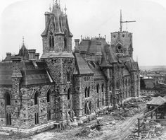 Parliament Buildings under Construction, Ottawa by William Notman