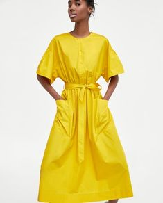 MIDI DRESS WITH BELT-View all-DRESSES-WOMAN | ZARA United States
