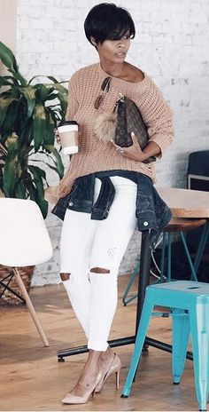 My look is not the same nor my walk. My actions are completely different. I feel free I'm embracing change. Fall Outfits, Casual Outfits, Cute Outfits, Fashion Outfits, Womens Fashion, Jean Outfits, Fashion Ideas, Glamour, Fall Looks