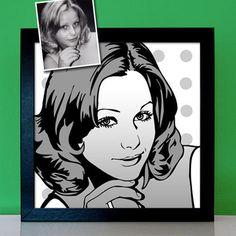 Pop Art Portrait nach Foto zeichnen lassen personalisiert Geschenk Geschenkidee Pop Art Portraits, Poster, Polaroid Film, Ebay, Pictures, Art, Creative Birthday Gifts, Painted Ladies, Personalized Gifts
