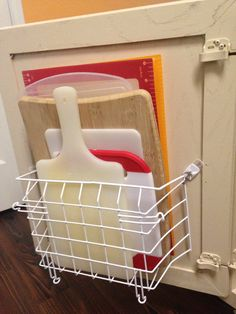 How to Create a Door Mounted Cutting Board Rack for $1.00