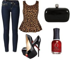 leopard shirt jeans combination of clothes moda style fashion accessories http://www.womans-heaven.com/leopard-shirt-with-jeans-and-accessories-combination-of-clothes/