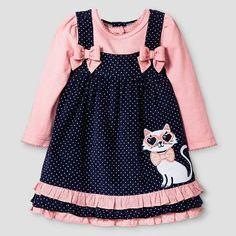Baby Grand Signature™ Baby Girls' Cat Coordinate Set - Navy