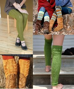 knitted knee highs