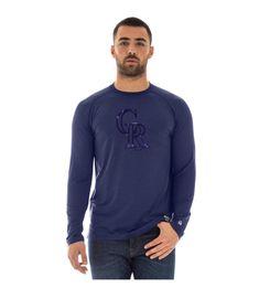 Colorado Rockies Long Sleeve T-shirt Mlb, New Era Cap, Colorado Rockies, Graphic Sweatshirt, T Shirt, A Team, Sweatshirts, Long Sleeve, Model