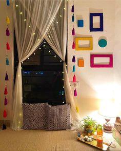 Indian Room Decor, Ethnic Home Decor, Indian Bedroom Design, Boho Decor, Home Decor Furniture, Home Decor Bedroom, Living Room Decor, Bedroom Signs, Bedroom Ideas