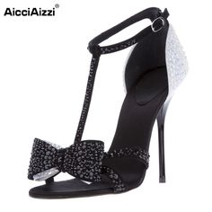 58.64$  Buy now - http://ali6n0.shopchina.info/go.php?t=32705779804 - Stylish Women Sandals 2016 Fashion Crystal Thin Heels Sandals Elegant Shoes Woman Can be Customized Footwear Size 35-46 B049 58.64$ #buyonlinewebsite