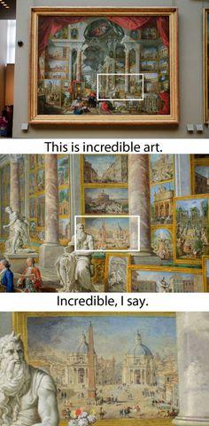 An Art Show Inside Of A Painting