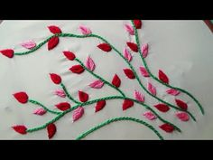 Hand Embroidery: Neckline Embroidery - YouTube