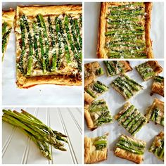Asparagus and Asiago Tart | Asapargus is one of my favorite vegetables. The Tall Boy and I especially love it oven-roasted, and drizzled with just a bit of olive oil, salt, pepper, and parmesan cheese. Add puff-pastry and you have a quick and easy finger-food, perfect for serving along with a glass of crisp white wine. | Kitchen Meets Girl