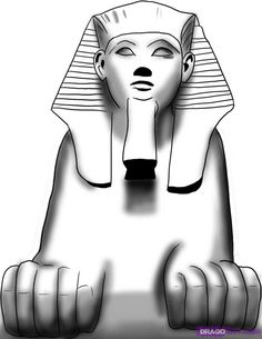 How to Draw an Egyptian Sphinx