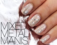 Mixed Metal Manis - Inspired by Britney Spears Toxic sparkle see through leotard