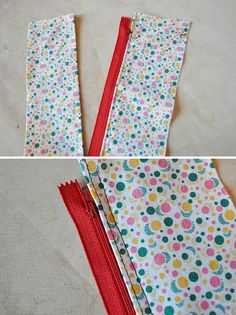 Three different ways to put in skirt zippers