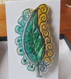 Lemon and lime Paisley brooch by JackieCardytextiles on Etsy