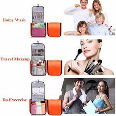 Waterproof Multifunction Travel Wash Cosmetic Bag Makeup Hanging Case Storage Bag - Newchic Mobile.