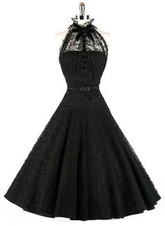 PLEASE CAN I HAVE THIS DRESS?...Vintage midnight black dress