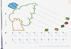 Okul öncesi dönemde çizgi çalışmaları;çocuğun kalemi tutmasına ve düzgün kullanmasına yardımcı olur.Küçük kaslarını güçlendirir,dikkat yet